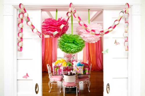 Party Poms and Garland